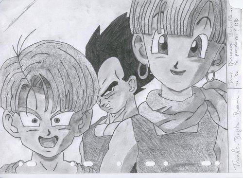 Bulma, Trunks and Vegeta