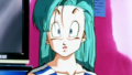Bulma at Kame House - bulma-briefs screencap