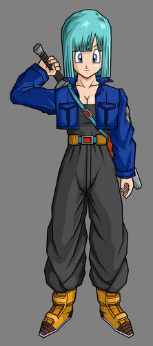 Bulma in trunks outfit