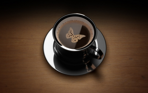 Butterflies are free...to drink coffee
