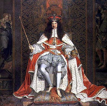 Charles II in coronation robes
