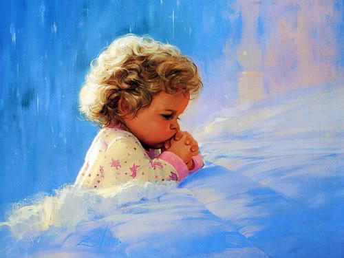 God-The creator Hintergrund called Child is praying for God