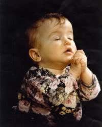 Child is praying for God