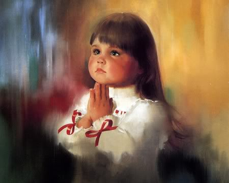 God-The creator 壁纸 containing a portrait entitled Child is praying for God
