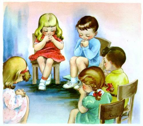God-The creator দেওয়ালপত্র called Children are praying for God
