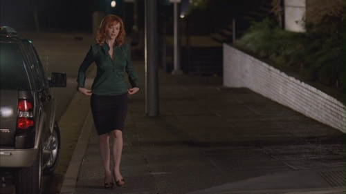 क्रिसटीना हेंड्रिक्स वॉलपेपर probably with a street, a carriageway, and a business suit titled Christina Hendricks in Life - Tear Asunder - 1.02