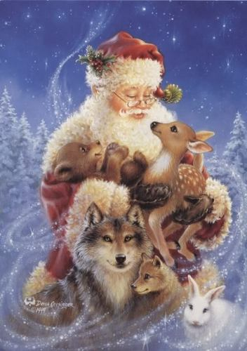 Christmas animaux