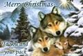 Christmas wolf