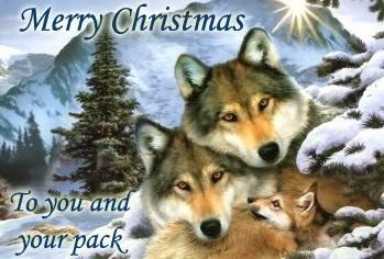 Christmas loup