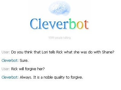 Cleverbot tells anda the truth! ^^