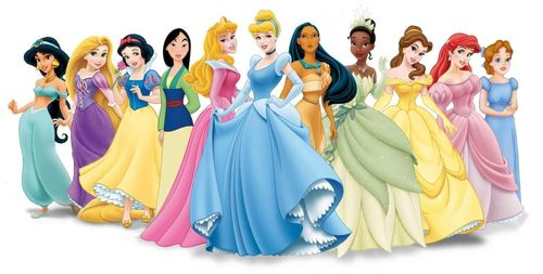डिज़्नी Princess Lineup with Wendy