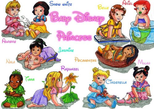 little disney princesses fondo de pantalla containing anime called disney Princess bebés