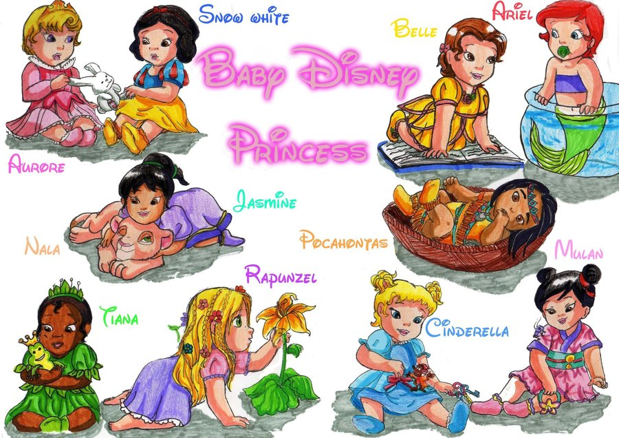 Little disney princesses disney princess babies