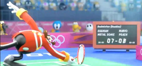 Dr Eggman playing テニス