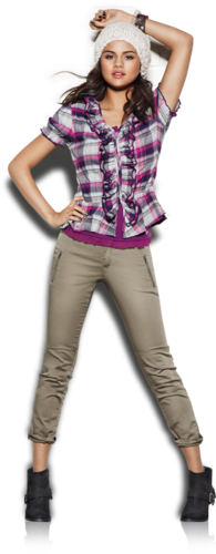 Selena Gomez wallpaper possibly with a fedora, a pantleg, and a playsuit entitled Dream out Loud ♥