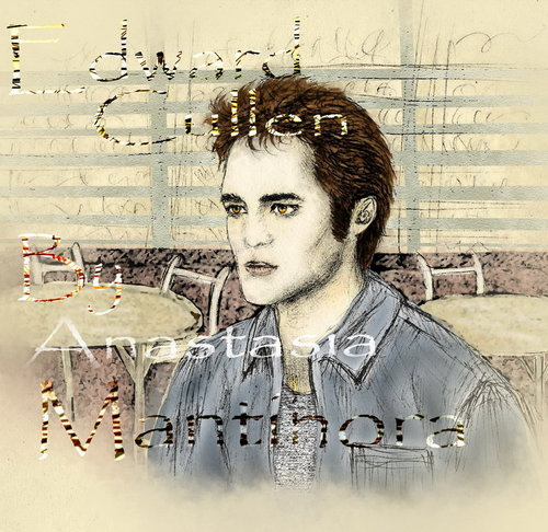 Edward Cullen wallpaper possibly containing a sign and a portrait entitled Edward Fanart