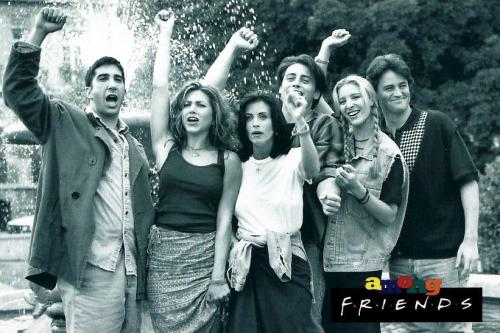 Friends wallpaper possibly with a fountain titled F.r.i.e.n.d.s