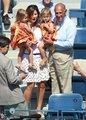 Federer blond twins - tennis photo