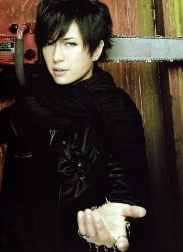 Jrock Hintergrund probably with an outerwear and a leisure wear called GACKT