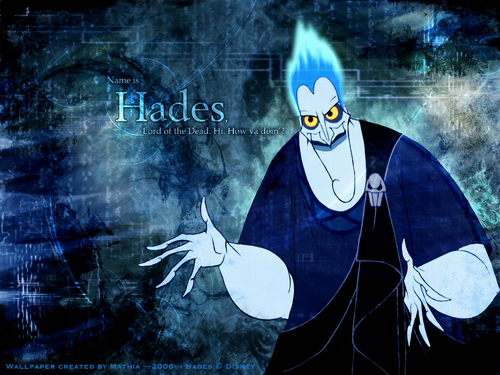 Childhood Animated Movie Villains Hintergrund entitled Hades