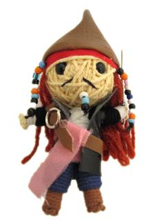 Hanmade Pirate Captain Keychain - www.mystringdolls.com