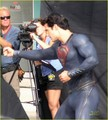 Henry Cavill: 'Man of Steel' Set Photos!