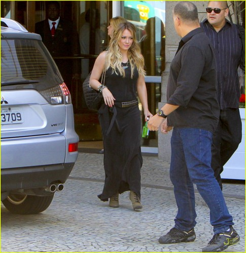 Hilary out in Brazil
