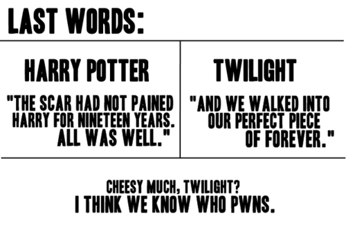 How to end a book - harry-potter-vs-twilight Photo
