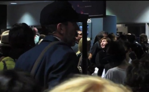Hugh Laurie at the airport-SEP.02.11