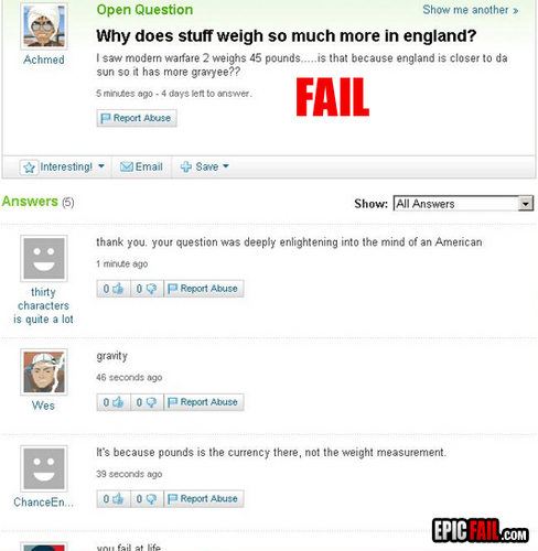 Intelligence fail.