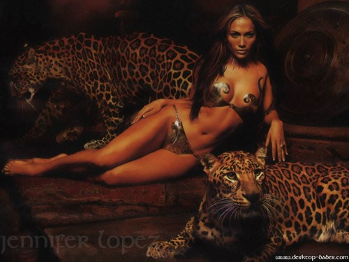 Jennifer Lopez wallpaper probably containing a leopardess and a leopard titled Jennifer Lopez Wallpaper