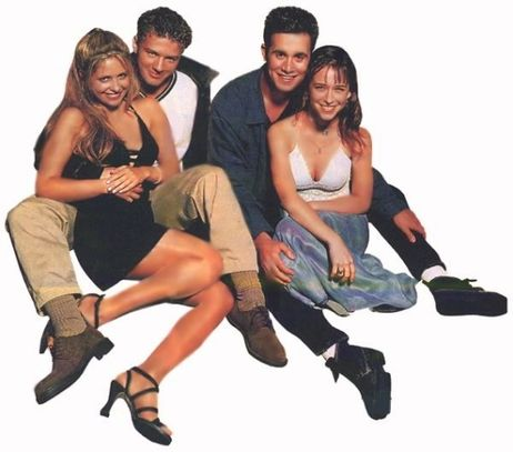 Jennifer Любовь Hewitt, Sarah Michelle Gellar, Ryan Phillippe and Freddie Prinze Jr.