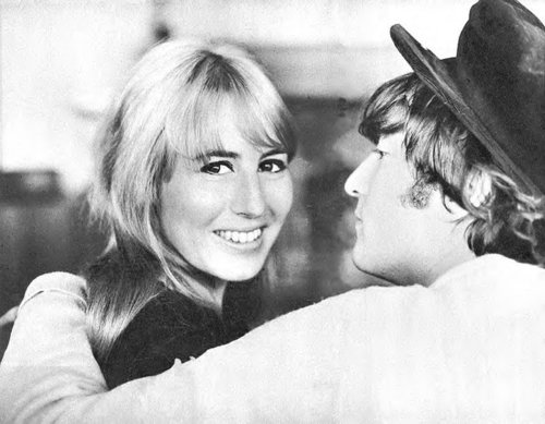 John Lennon پیپر وال with a snap brim hat, a campaign hat, and a fedora titled John and Cyn