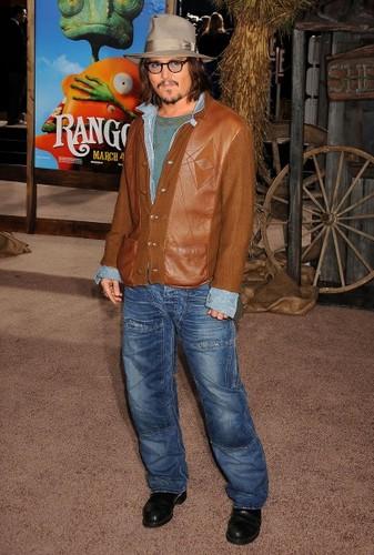 Johnny Depp - Rango Premiere