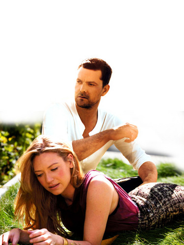 Anna Torv and Joshua Jackson achtergrond called Josh & Anna <3