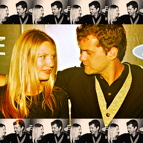 Anna Torv and Joshua Jackson দেওয়ালপত্র probably containing a portrait titled Josh & Anna <3