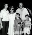 Julie Andrews pictured with Walt Disney, as well as the two children from Mary Poppins