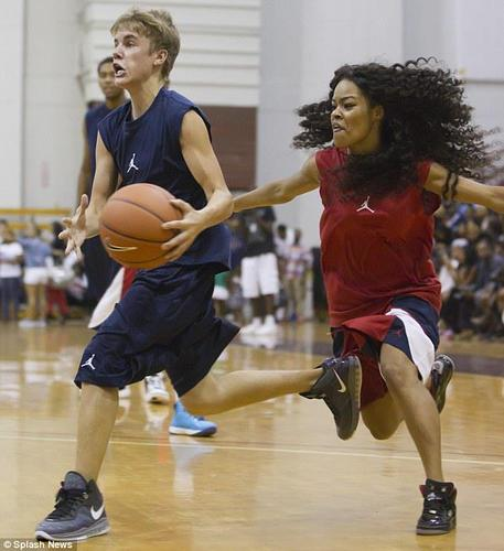 Justin plays basketball:)