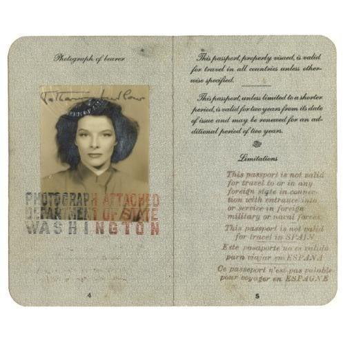 Katharine Hepburn's Passport