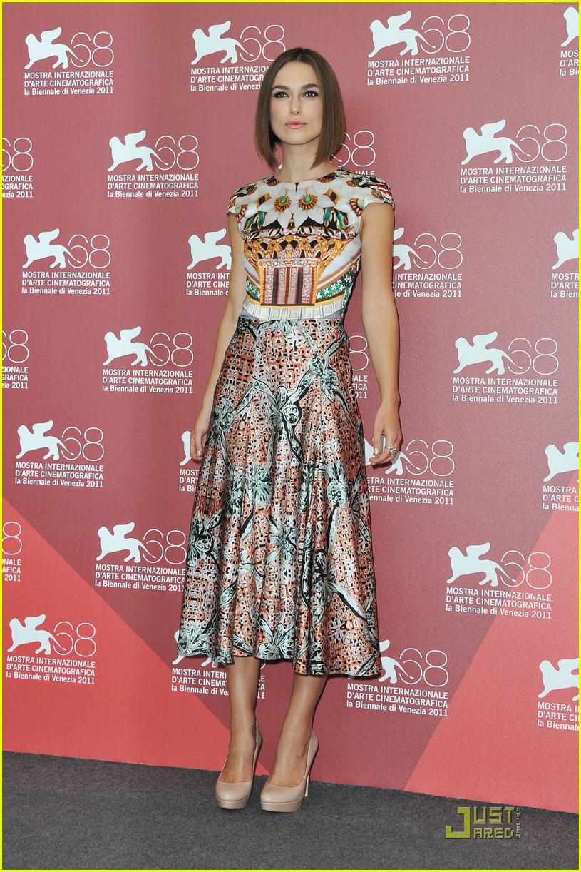 Keira Knightley: 'Dangerous Method' Photo Call in Venice!