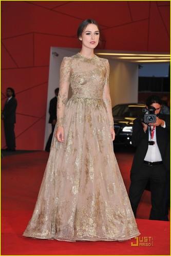 Keira Knightley Premieres 'A Dangerous Method' in Venice