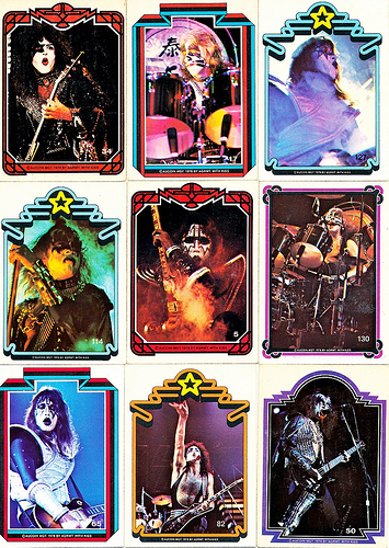 Kiss trading cards - kiss Fan Art