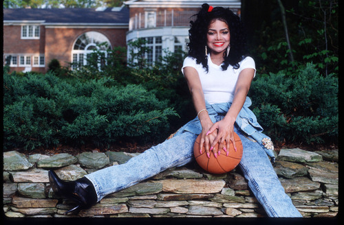 Latoya Jackson 1989 photoshoot