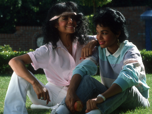 Latoya jackson and Janet Jackson