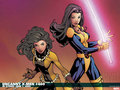 Laura and Kitty - x-men wallpaper