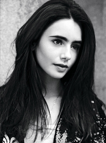 Lily Collins wallpaper containing a portrait entitled Lily Collins ASOS Magazine October 2011 Photoshoot