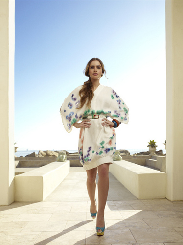 Lily Collins InStyle Magazine May 2011 Photoshoot