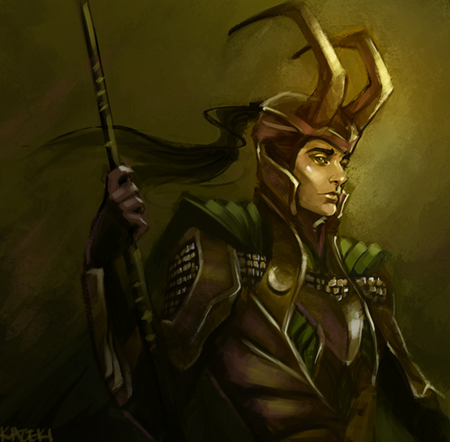 Loki (Thor 2011) wallpaper probably with anime called Loki Fanart