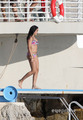 Lourdes Leon in a Bikini on the ビーチ in Nice, France, Aug 28