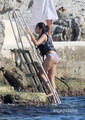 Lourdes Leon in a Bikini on the समुद्र तट in Nice, France, Aug 28
